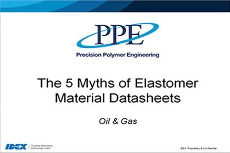 Webinar: I 5 luoghi comuni sulle schede tecniche dei materiali in elastomero - PPE